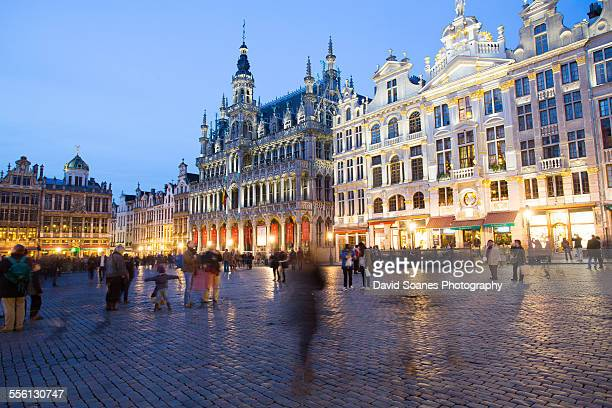the grand place in brussels, belgium - belgium stock pictures, royalty-free photos & images