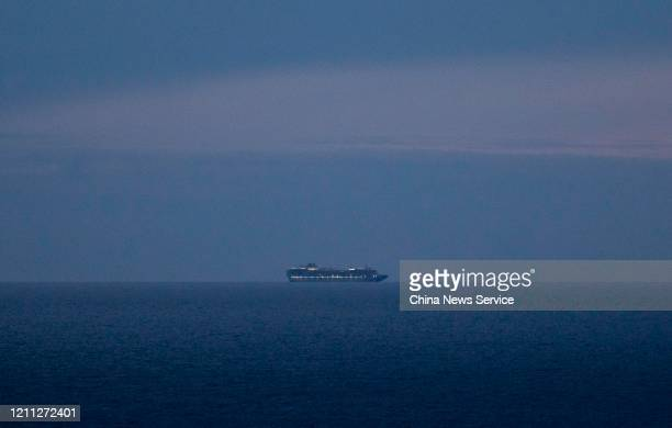 The Grand Princess cruise ship idles at sea off San Francisco on March 8 2020 in California USA The Grand Princess cruise ship with more than 3500...