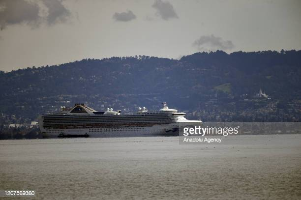 The Grand Princess is at anchor in the middle of the San Francisco Bay just off Candlestick Point on March 18 2020 The ship is now the quarantine and...