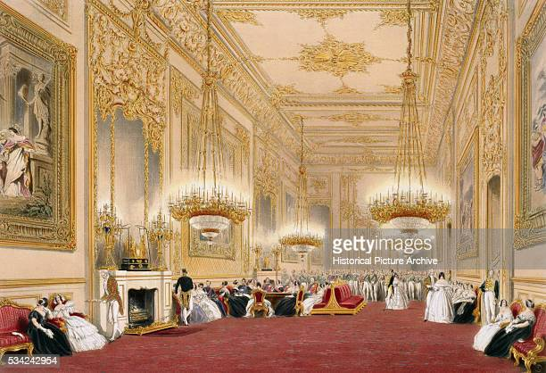 The Grand Reception Room at Windsor Castle by JB Pyne