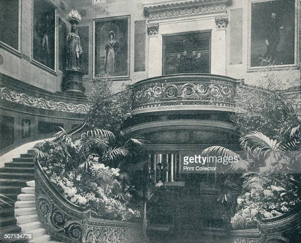 The Grand Staircase at Buckingham Palace' c1899 The Grand Staircase at Buckingham Palace designed by the architect John Nash at the request of King...