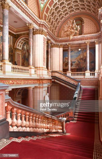 The Grand Staircase inside the Foreign and Commonwealth Office on July 13,2013 in London,England.
