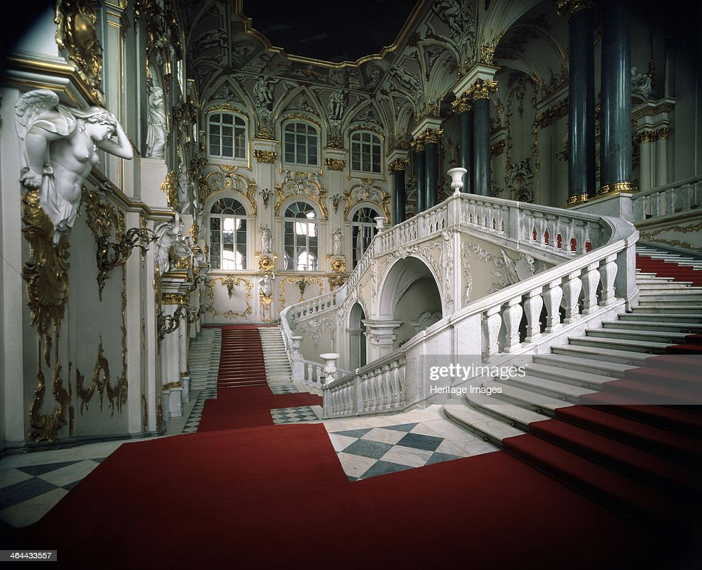 'The Grand staircase of the Winter Palace', 1756-1761. Artist: Bartolomeo Francesco Rastrelli : News Photo