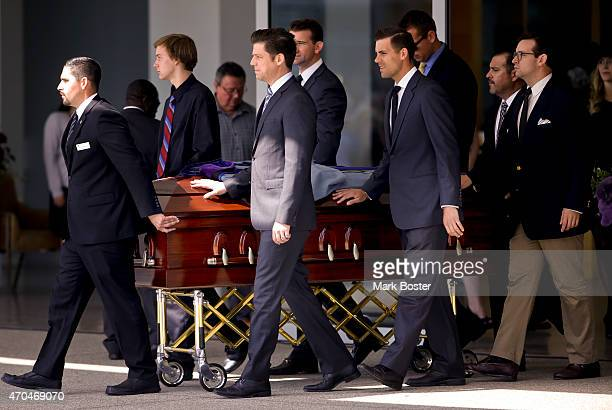 """The grandchildren of """"Hour Of Power"""" and Crystal Cathedral founder, Dr.Robert H. Schuller serve as pallbearers during the funeral service for..."""