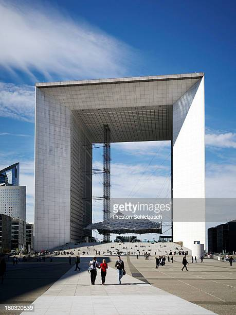 The Grande Arche de la Defense is photographed for Conde Nast Traveler - Spain on October 4, 2012 in Paris, France. PUBLISHED IMAGE.