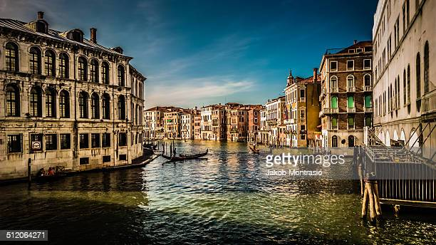 the grande canal in venice. - jakob montrasio stock pictures, royalty-free photos & images