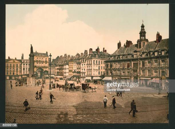 The Grande Place in Lille France circa 1900