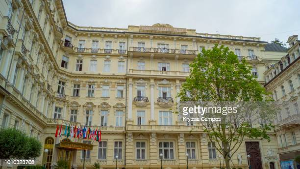 the grandhotel pupp in karlovy vary, czech republic - karlovy vary stock pictures, royalty-free photos & images