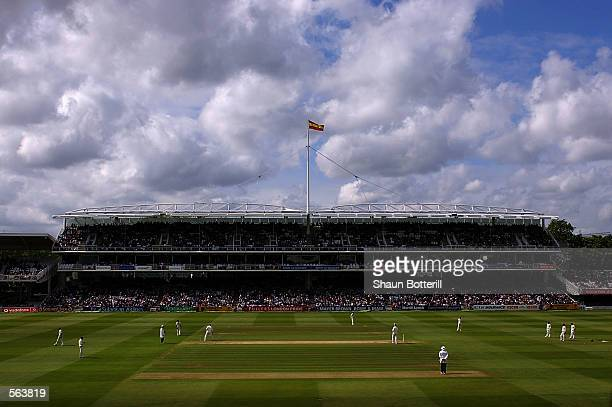 The grandstand at Lord's during the third day of the first Test Match between England and Sri Lanka at Lord's in London on May 18 2002