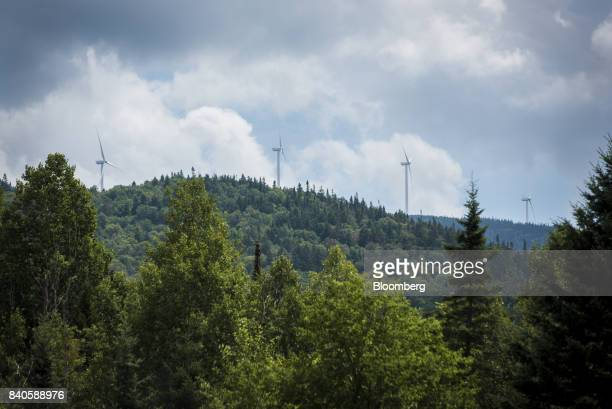 The Granite Reliable Wind Farm partially owned by Yale stands between Millsfield and Dixville New Hampshire US on Thursday Aug 10 2017 For at least...