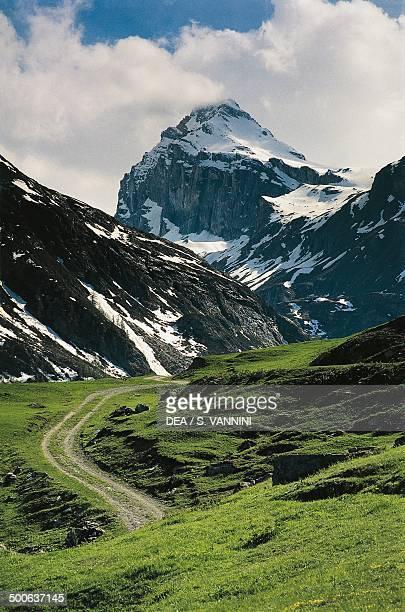 The Granta Parey mountain seen from the Fos alps Rhemes Valley Aosta Valley Italy