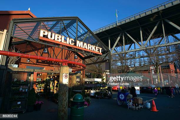 The Granville Island Public Market is pictured on February 18 2009 in Vancouver British Columbia Canada Vancouver is the host city for the 2010...