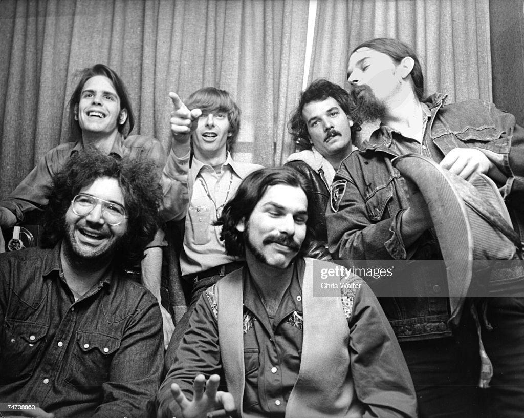 Bob Weir, Phil Lesh, Bill Kreutzmann, Ron 'Pigpen' McKernan, Mickey Hart and Jerry Garcia during the Music File Photos - The 1970s - by Chris Walter at the Music File Photos 1970's in Various Cities, United Kingdom. (P