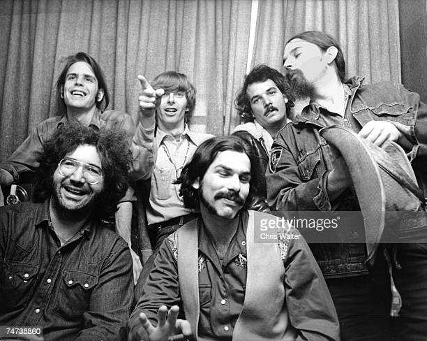 Bob Weir Phil Lesh Bill Kreutzmann Ron Pigpen McKernan Mickey Hart and Jerry Garcia during the Music File Photos The 1970s by Chris Walter at the...