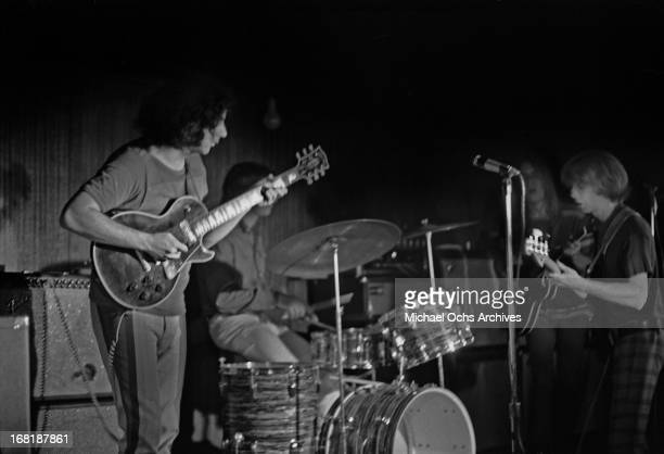 The Grateful Dead perform at the Cafe Au Go Go on June 8 1967 in New York City New York