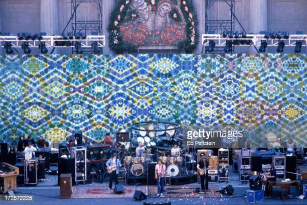 The Grateful Dead perform at the Greek Theater in May 1983 in Berkeley California