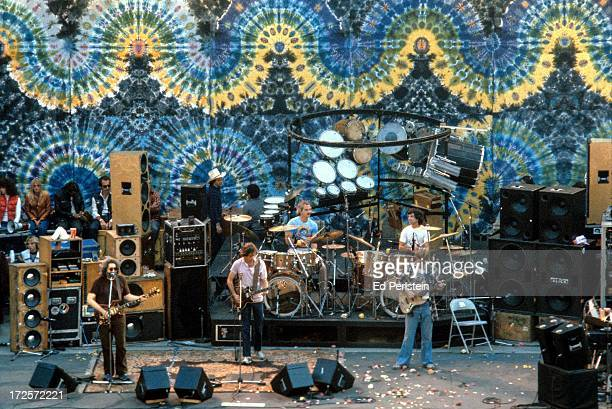 The Grateful Dead perform at the Greek Theater in September 1981 in Berkeley California