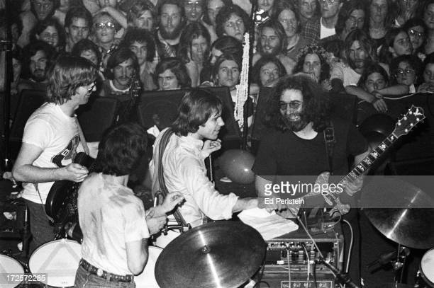 The Grateful Dead perform on New Years Eve 1977 at Winterland in San Francisco California