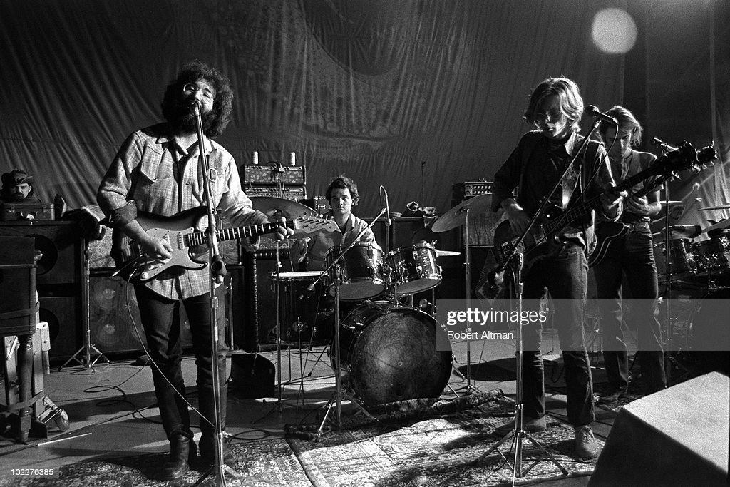 The Grateful Dead (L-R Ron 'Pigpen' McKernan, Jerry Garcia, Bill Kreutzmann, Phil Lesh and Bob Weir) perform onstage at The Family Dog in Febuary 1970 in San Francisco, California.