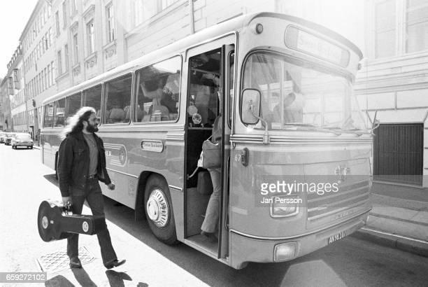 The Grateful Dead's tour bus in Copenhagen Denmark May 1972