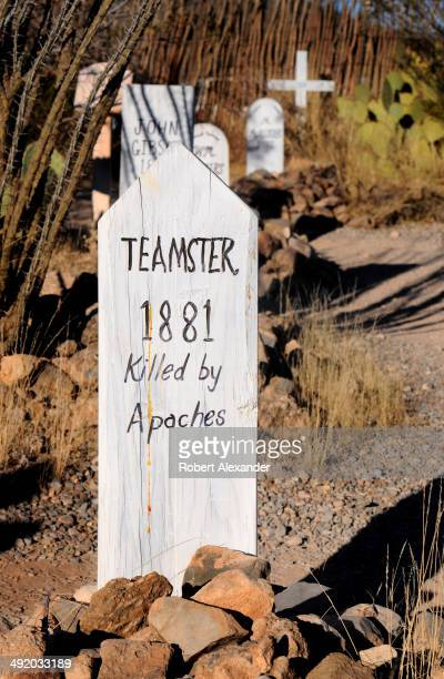 The grave of a man killed by Indians in 1881 is among those found at the historic Boothill Graveyard in Tombstone, Arizona. The cemetery, a popular...