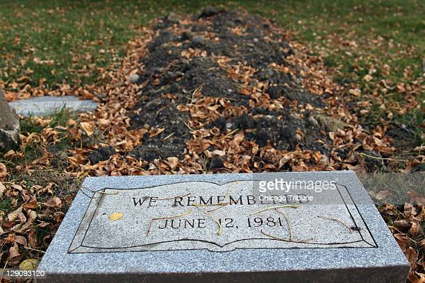 The grave of an unidentified victim of John Wayne Gacy is seen at Woodlawn Memorial Park in Forest Park Illinois on Wednesday October 12 2011 The...