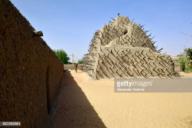 The grave of Askia which was built in the 15th century in honor of King Mohammed I Toure stands on the outskirts of Gao on March 7 2017 in Gao Mali...