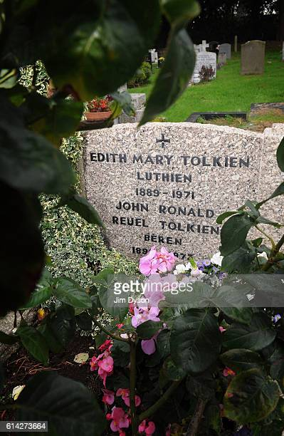 The grave of author John Ronald Reuel Tolkien better known as JRR Tolkien and his wife Edith at Wolvercote Cemetery on September 28 2010 in Oxford...