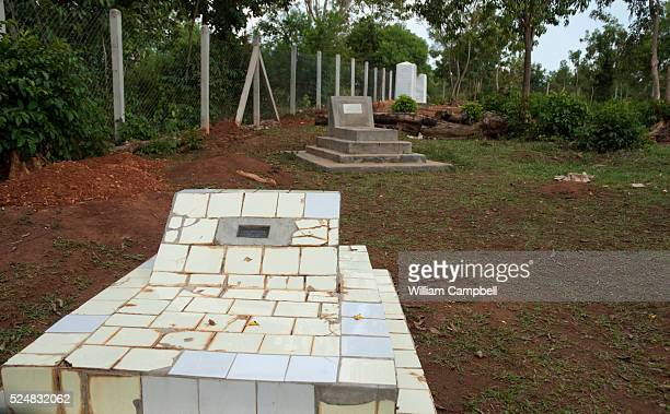 The grave of Barack Hussein Obama the father of President Barack Obama in the Obama family compound of President Obama's grandmother Mama Sarah in...
