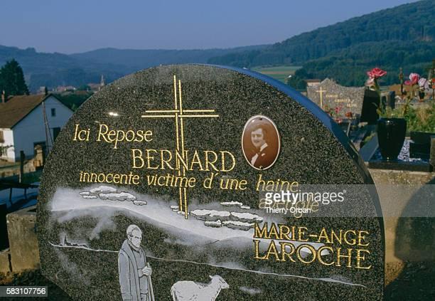 The grave of Bernard Laroche in Jussarupt Cemetery Laroche was murdered by JeanMarie Villemin in 1985 | Location Jussarupt France
