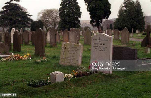 The grave of Brian Jones former member of the band the Rolling Stones in Priory Road Cemetary Cheltenham Jones was found dead in the swimming pool of...