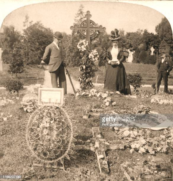 """The Grave of Charles Stewart Parnell, Irelands greatest leader, Dublin', 1896. From """"Underwood and Underwood Publishers, New York-London-Toroto..."""