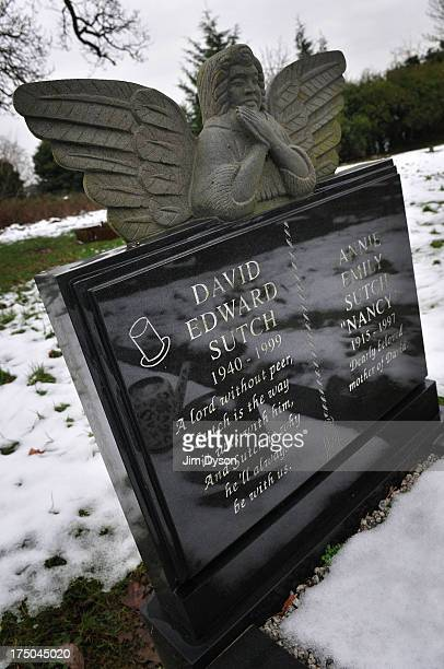 The grave of DAVID SUTCH at Pinner New Cemetery on January 24 2013 in London England Dead Famous London is a journey through the capital's cemeteries...