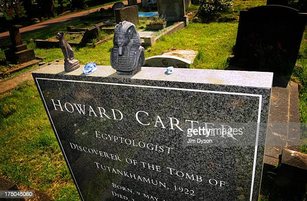 The grave of Egyptologist Howard Carter at Putney Vale Cemetery on May 8 2008 in London England Dead Famous London is a journey through the capital's...