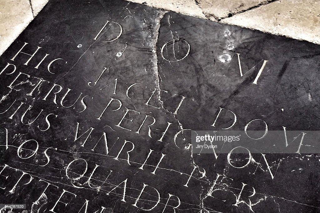 The Grave of Dom Perignon - Champagne Region : News Photo