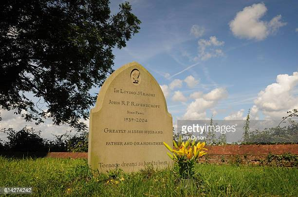 The grave of John Ravenscroft better known as broadcaster John Peel at St Andrew's Churchyard on August 11 2010 in Great Finborough England Peel's...