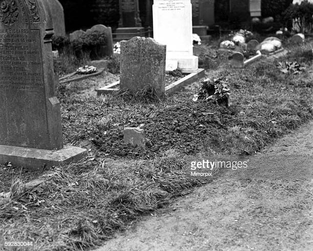 The grave of Mrs Harold Greenwood whose body was exhumed on 20th April 1920