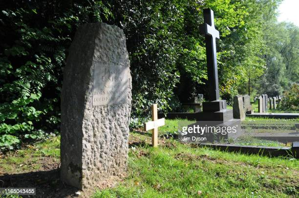 The grave of Sculptor Sir Jacob Epstein at Putney Vale Cemetery on May 8 2008 in London England Dead Famous London is a journey through the capital's...
