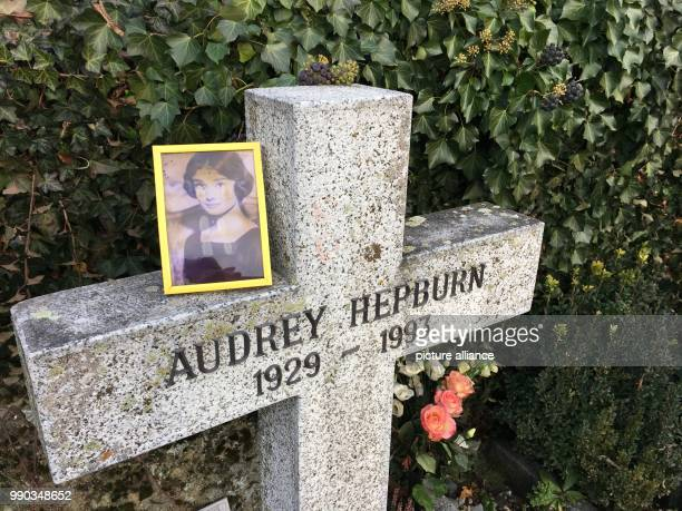 The grave of the actress Audrey Hepburn in the Tolochenaz cemetary in Switzerland 06 January 2018 Hepburn died aged 63 25 years ago in Switzerland...