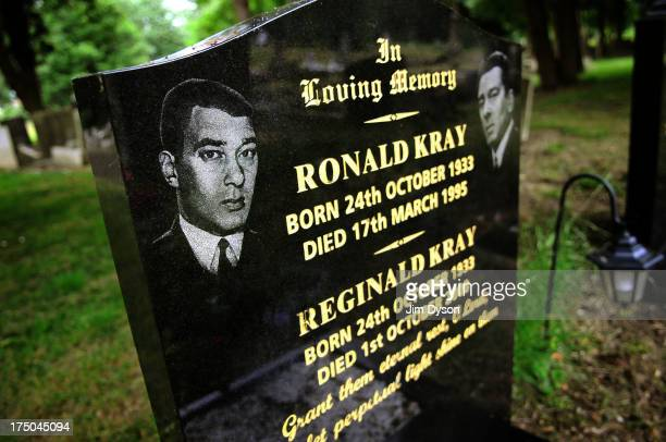 The grave of the notorious KRAY TWINS at Chingford Mount Cemeteryon June 3 2009 in London England Dead Famous London is a journey through the...