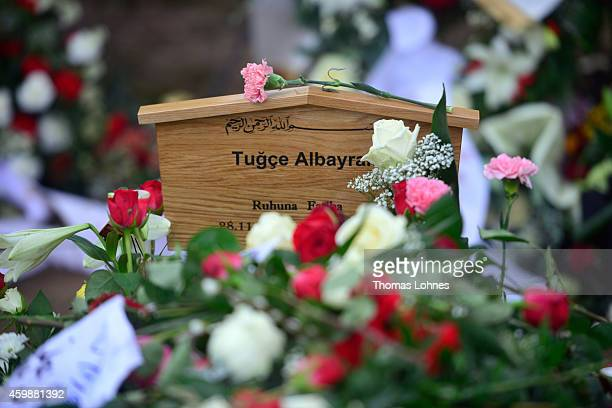 The grave of Tugce Albayrak the 23yearold university student who died after she was attacked in a McDonald's restaurant parking lot pictured after...