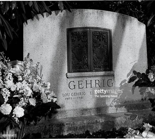 The grave stone and plot ofLou Gehrig19051941 and his wife Eleanor Gehrig 1905 circa March 1954