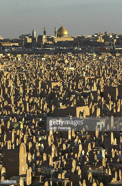 The graves of an estimated five million Shiite Muslim faithful spread out around the goldleafed Imam Ali shrine making it among the largest...