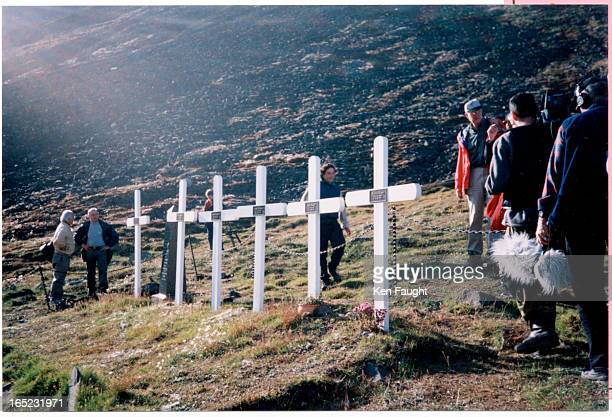 The graves of six Norwegian coal miners who fell victim to the 1918 Spanish Flu epidemic A Canadian led expedition exhumed the graves located on a...