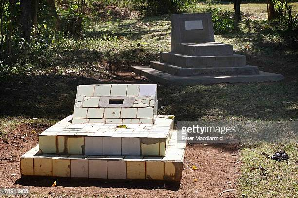 The graves of US Senator Barack Obama's father and grandfather lie near the family house on January 12 2007 in Kogelo western Kenya Barack Hussein...