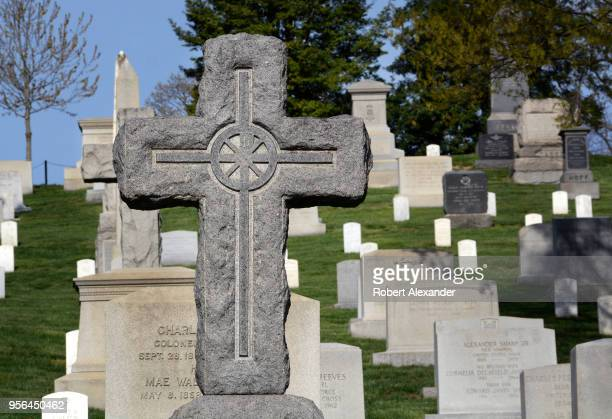 The graves of US veterans and their spouses fill Arlington National Cemetery near Washington DC
