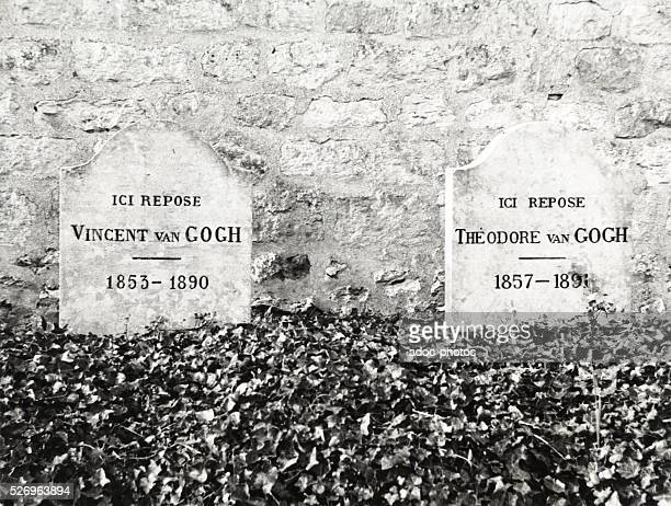 The graves of Vincent and Theo van Gogh in AuverssurOise Ca 1960