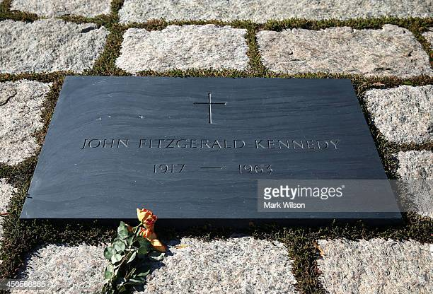 The gravesite of the 35th President of the United States John F Kennedy at Arlington Cemetery on November 19 2013 in Arlington Virginia The 50th...