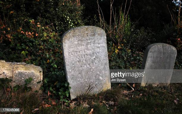 The gravestone of prison reformer Elizabeth Fry at Wanstead Quaker Meeting House on November 30 2011 in London England Dead Famous London is a...