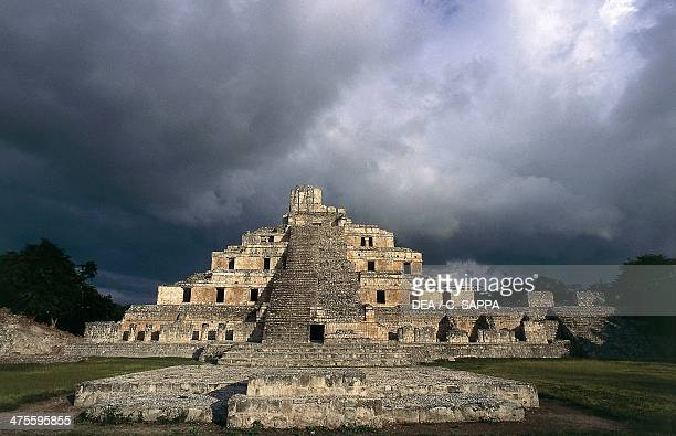 The Great Acropolis archaeological site of Edzna Campeche Mexico Maya Civilisation